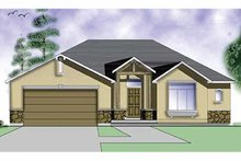 Architectural House Design - Craftsman Exterior - Front Elevation Plan #945-5