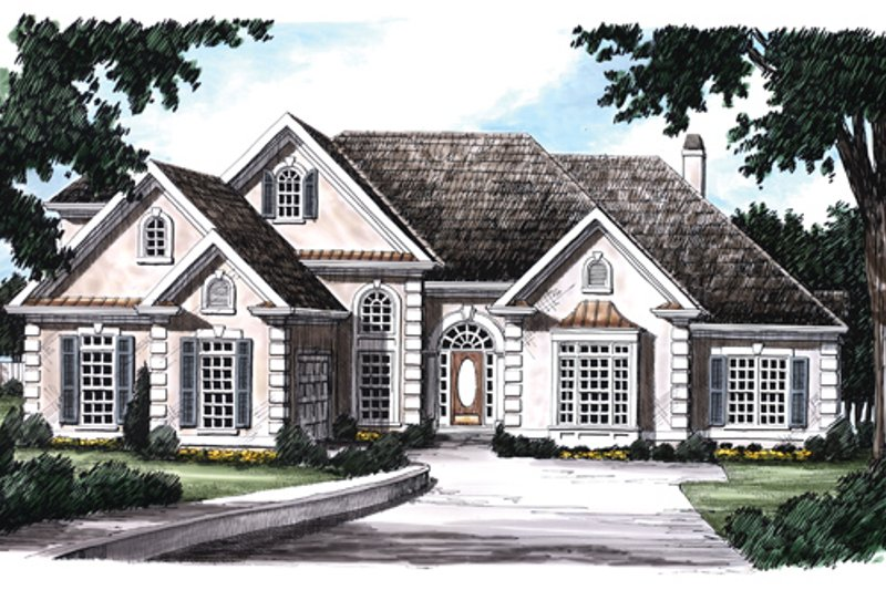 Mediterranean Exterior - Front Elevation Plan #927-146