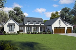 Home Plan - Contemporary Exterior - Front Elevation Plan #48-971