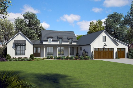 Contemporary Exterior - Front Elevation Plan #48-971