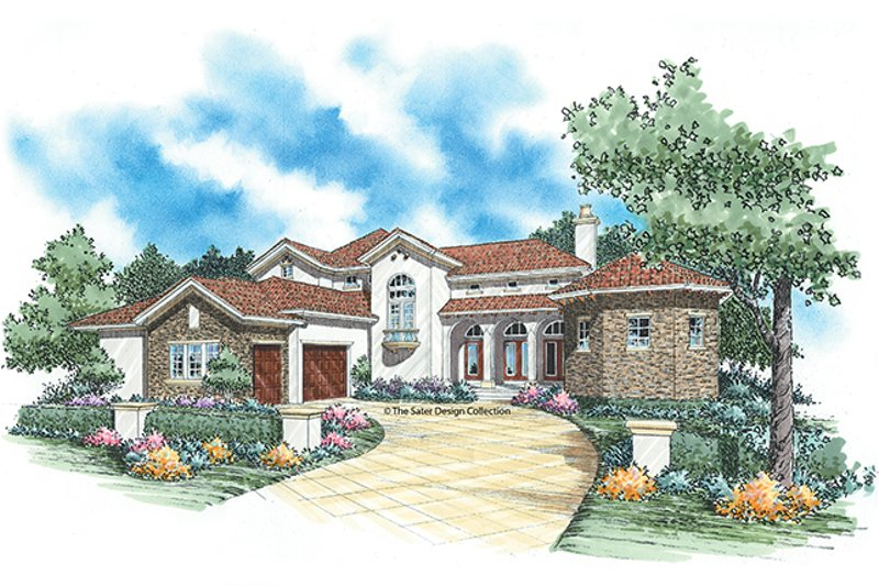 Mediterranean Exterior - Front Elevation Plan #930-347