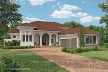 Mediterranean Exterior - Front Elevation Plan #930-471