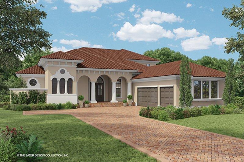 House Plan Design - Mediterranean Exterior - Front Elevation Plan #930-471