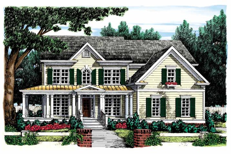 Classical Exterior - Front Elevation Plan #927-850
