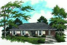 Ranch Exterior - Front Elevation Plan #45-216