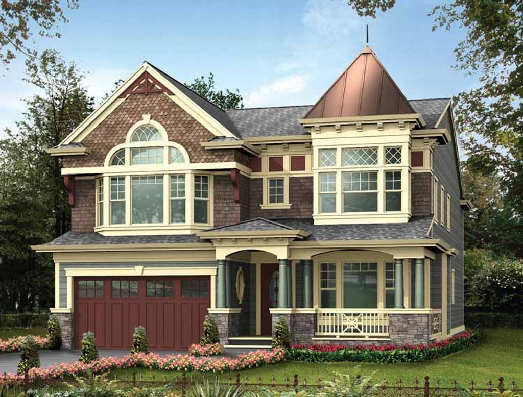 Victorian style house plan 4 beds 3 5 baths 4020 sq ft for Victorian style house plans