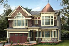 Dream House Plan - Victorian Exterior - Front Elevation Plan #132-473