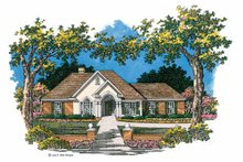 Ranch Exterior - Front Elevation Plan #952-267