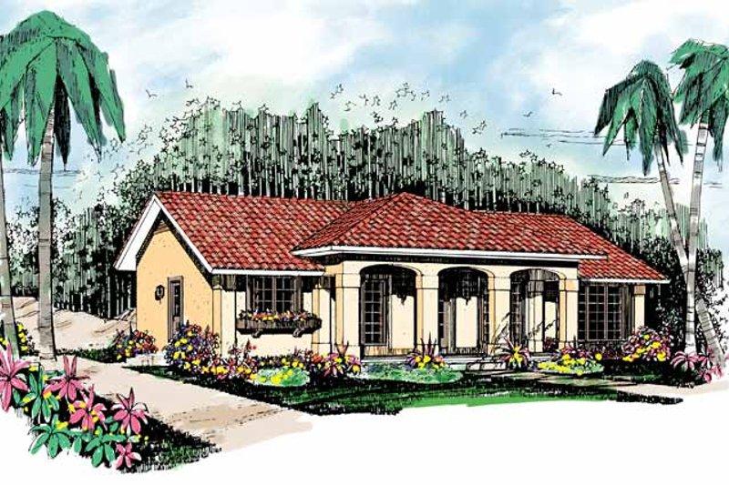 House Blueprint - Mediterranean Exterior - Front Elevation Plan #72-880