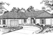European Style House Plan - 3 Beds 2.5 Baths 2249 Sq/Ft Plan #322-107 Exterior - Front Elevation