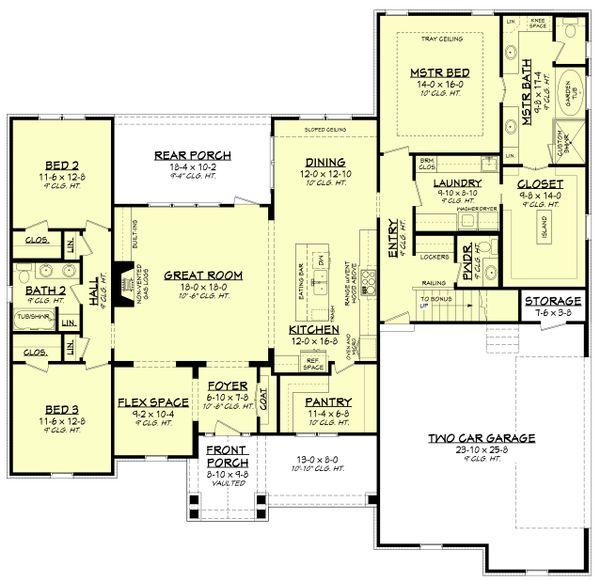 Architectural House Design - Farmhouse Floor Plan - Main Floor Plan #430-195