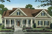 Architectural House Design - Country Exterior - Front Elevation Plan #46-778