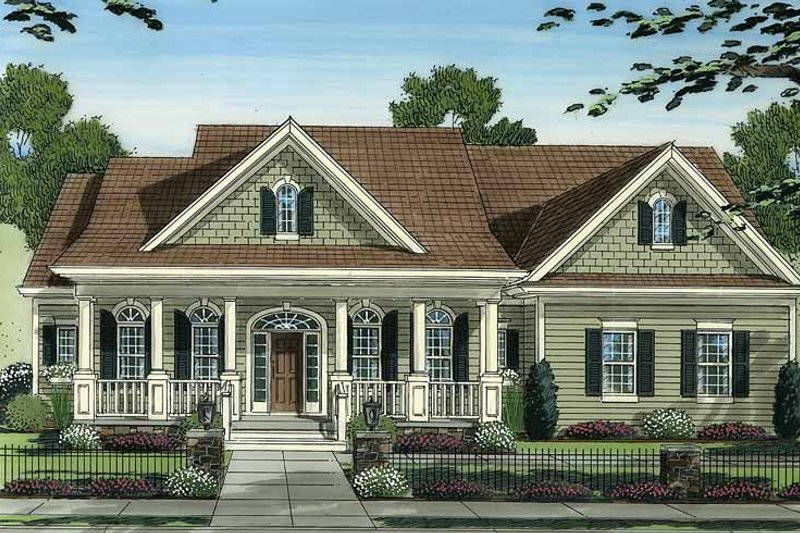 Country Exterior - Front Elevation Plan #46-778 - Houseplans.com