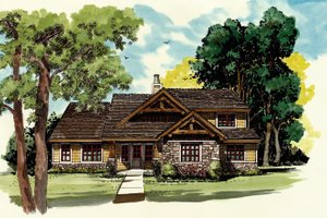 Craftsman Exterior - Front Elevation Plan #942-17
