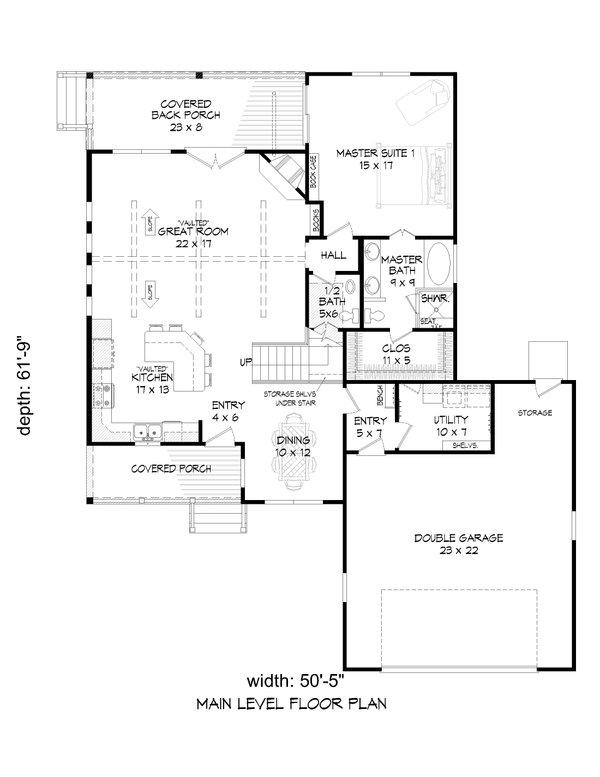 Dream House Plan - Traditional Floor Plan - Main Floor Plan #932-418