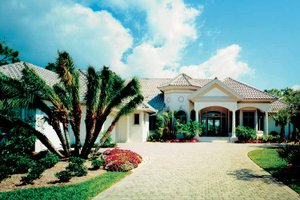Mediterranean Exterior - Front Elevation Plan #930-105