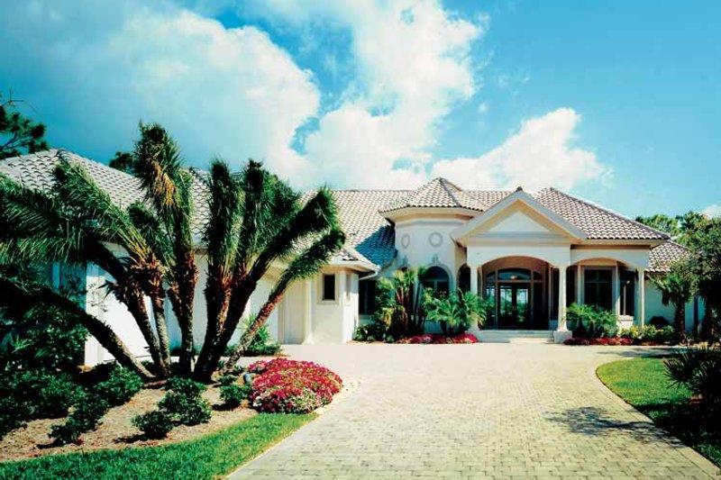 Architectural House Design - Mediterranean Exterior - Front Elevation Plan #930-105