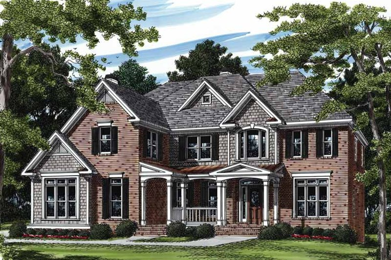 Colonial Exterior - Front Elevation Plan #927-203 - Houseplans.com