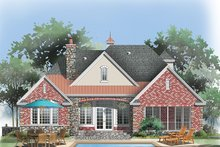 Home Plan - European Exterior - Rear Elevation Plan #929-987
