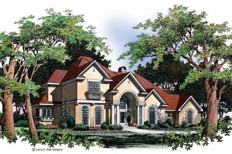 Architectural House Design - Mediterranean Exterior - Front Elevation Plan #952-31