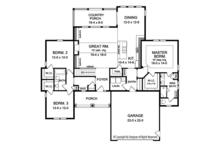 Ranch Floor Plan - Main Floor Plan Plan #1010-142