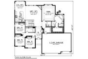 Ranch Style House Plan - 4 Beds 2 Baths 2228 Sq/Ft Plan #70-1197 Floor Plan - Main Floor