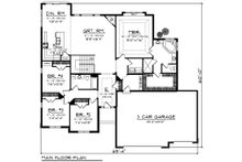 Ranch Floor Plan - Main Floor Plan Plan #70-1197
