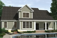 House Plan Design - Farmhouse Exterior - Rear Elevation Plan #1071-18