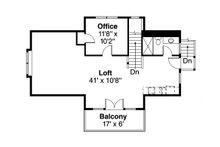 Craftsman Floor Plan - Upper Floor Plan Plan #124-1142