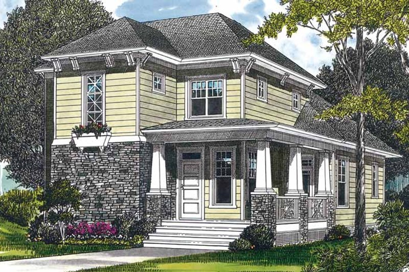 Craftsman Exterior - Front Elevation Plan #453-319