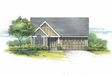 House Plan Design - Craftsman Exterior - Front Elevation Plan #53-465