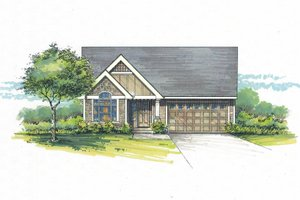 Architectural House Design - Craftsman Exterior - Front Elevation Plan #53-465