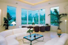 Architectural House Design - Mediterranean Interior - Family Room Plan #930-109