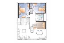 European Floor Plan - Upper Floor Plan Plan #23-2488