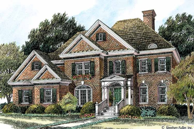 Colonial Exterior - Front Elevation Plan #429-378 - Houseplans.com