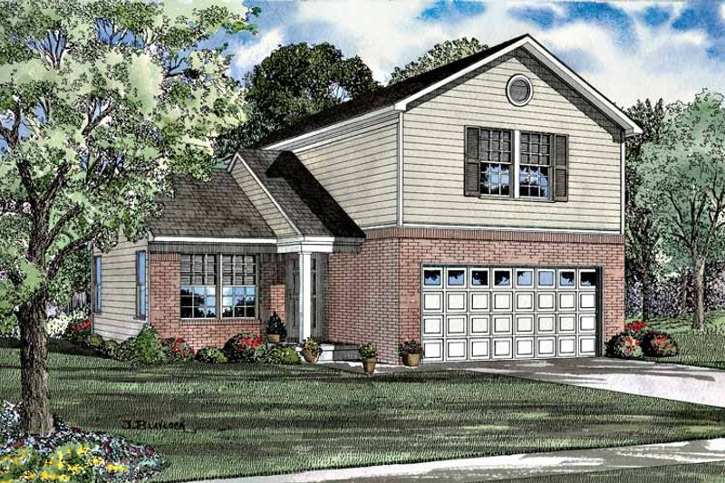 Dream House Plan - Colonial Exterior - Front Elevation Plan #17-3041