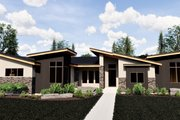 Contemporary Style House Plan - 5 Beds 3.5 Baths 4139 Sq/Ft Plan #920-15