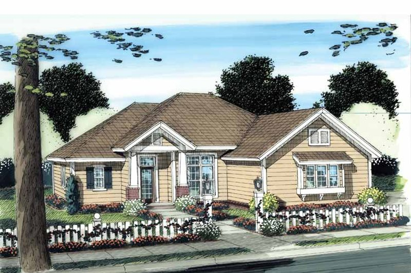 Craftsman Exterior - Front Elevation Plan #513-2112