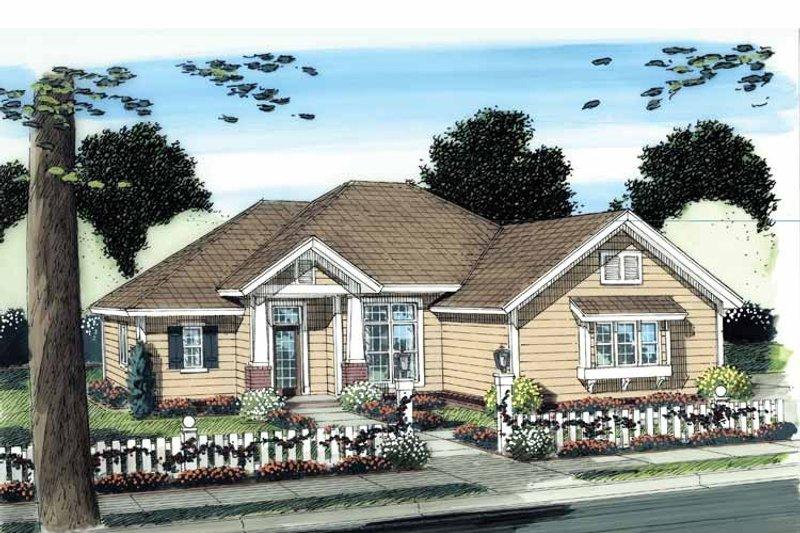 Craftsman Exterior - Front Elevation Plan #513-2112