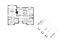 Craftsman Floor Plan - Upper Floor Plan Plan #1016-109