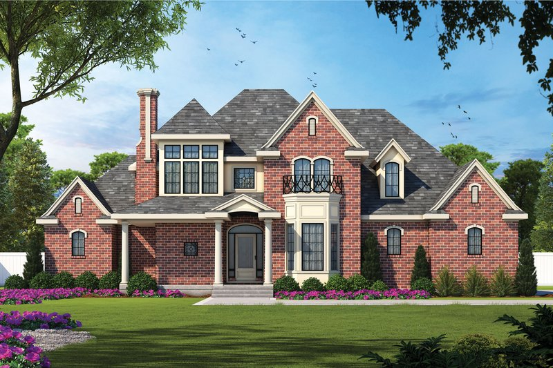 European Exterior - Front Elevation Plan #20-967