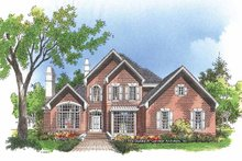 Architectural House Design - Traditional Exterior - Front Elevation Plan #929-456