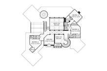 Mediterranean Floor Plan - Upper Floor Plan Plan #453-617