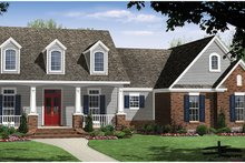 Ranch Exterior - Front Elevation Plan #21-436