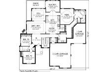 European Floor Plan - Main Floor Plan Plan #70-1056