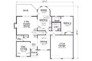 Craftsman Style House Plan - 4 Beds 3.5 Baths 2763 Sq/Ft Plan #419-165 Floor Plan - Main Floor