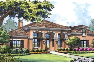 House Plan Design - Mediterranean Exterior - Front Elevation Plan #417-313