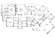 Craftsman Style House Plan - 4 Beds 4.5 Baths 8247 Sq/Ft Plan #509-28 Floor Plan - Main Floor Plan