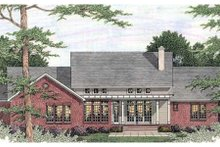 Southern Exterior - Rear Elevation Plan #406-293