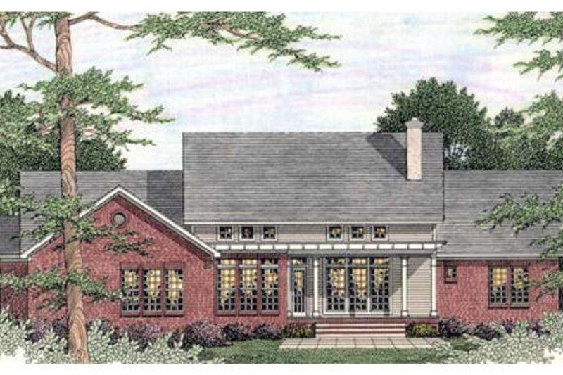 Southern Exterior - Rear Elevation Plan #406-293 - Houseplans.com